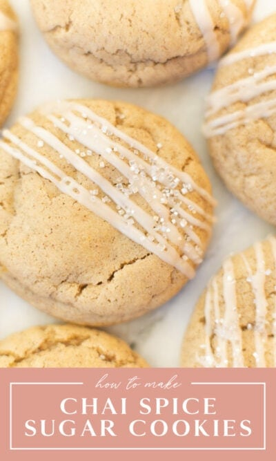 chai spice sugar cookies with vanilla bean drizzle