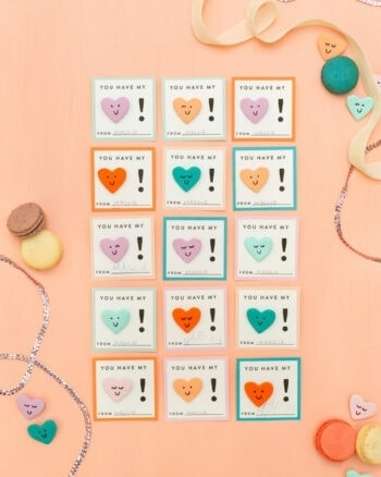 DIY clay heart valentines