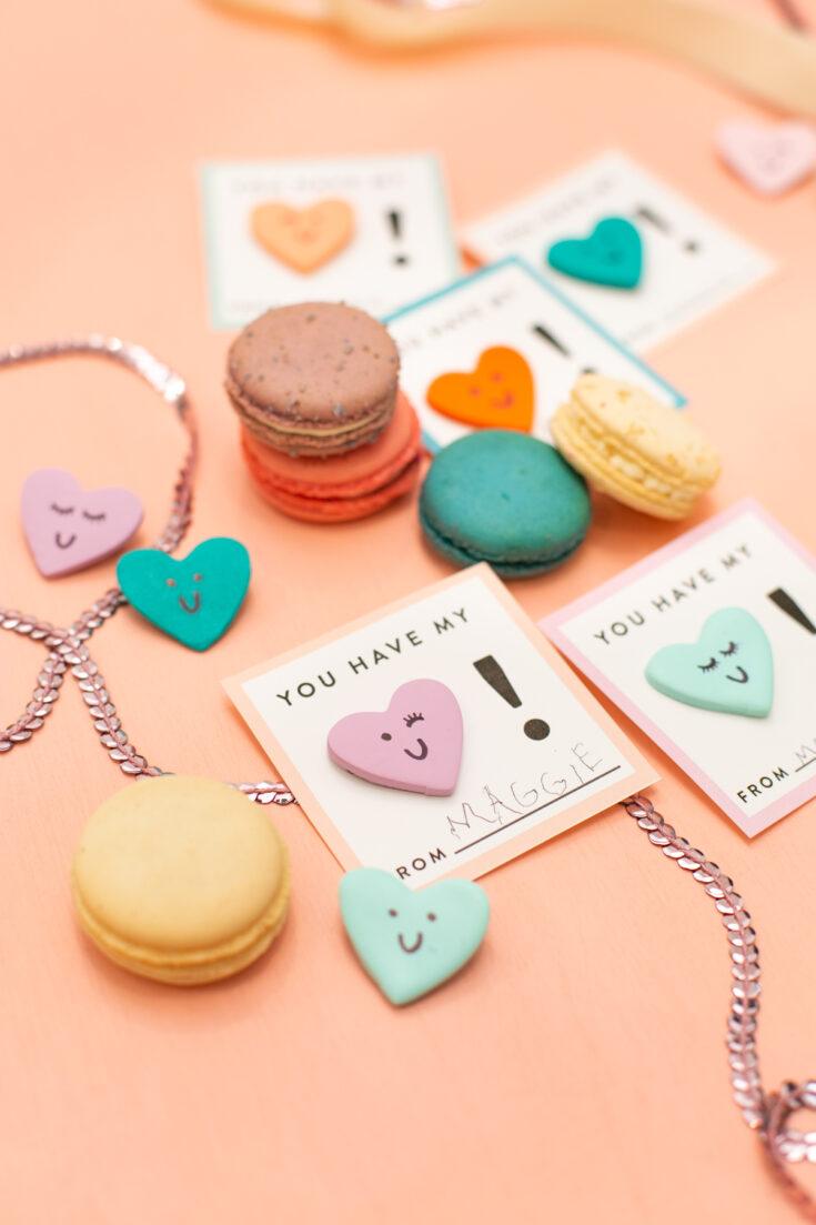 Clay Heart Pin Valentines