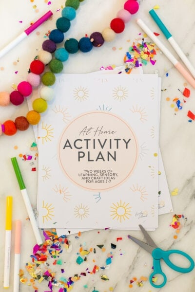 at home activity schedule for kids