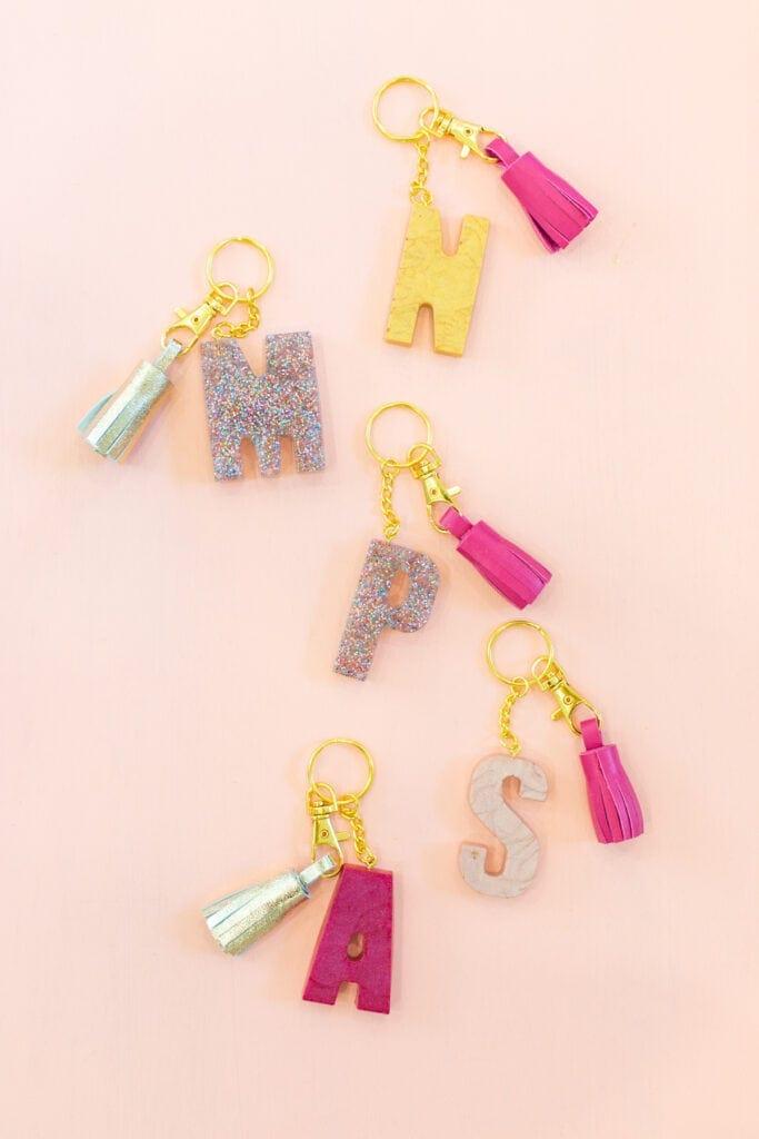 Make a monogrammed Keychain