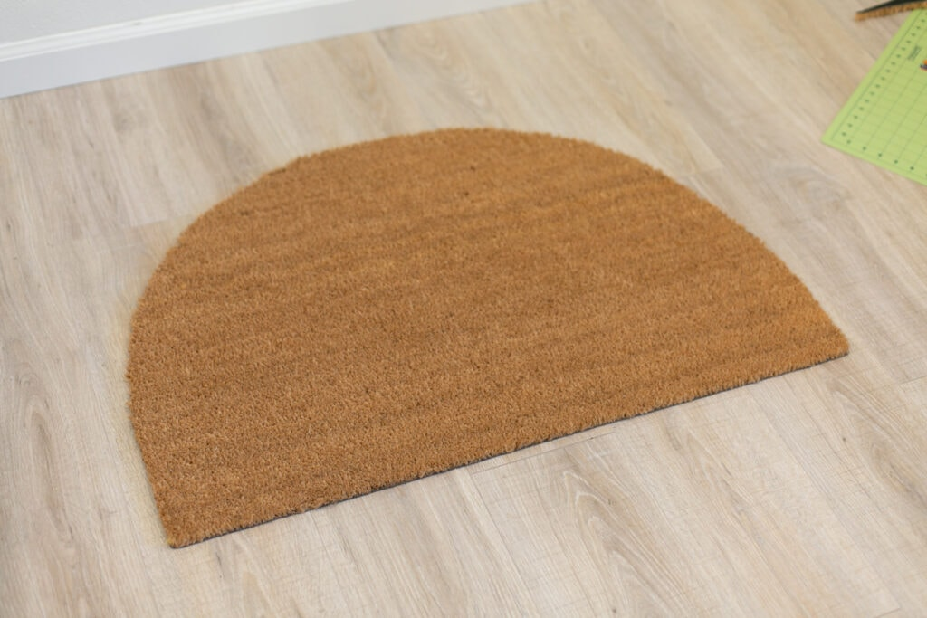 how to cut a doormat