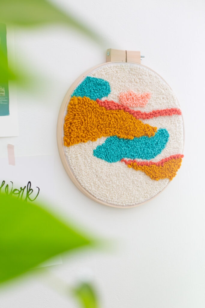 DIY punch needle wall hanging