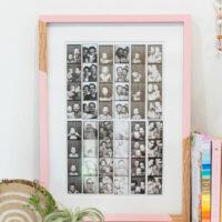 DIY Photo Booth Strip Display
