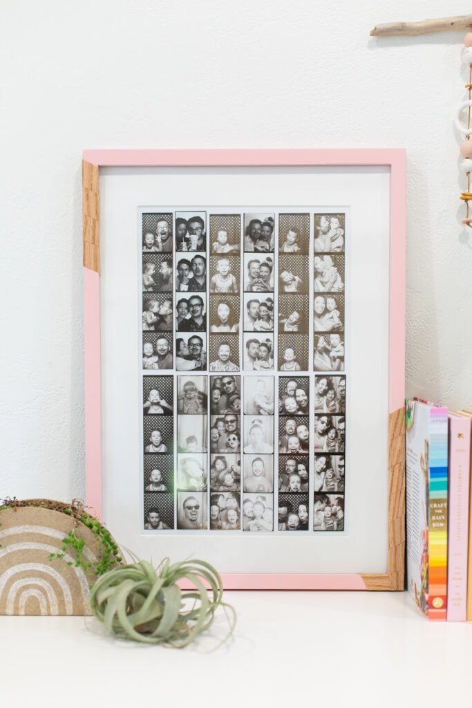 DIY Photo Booth Strip Display