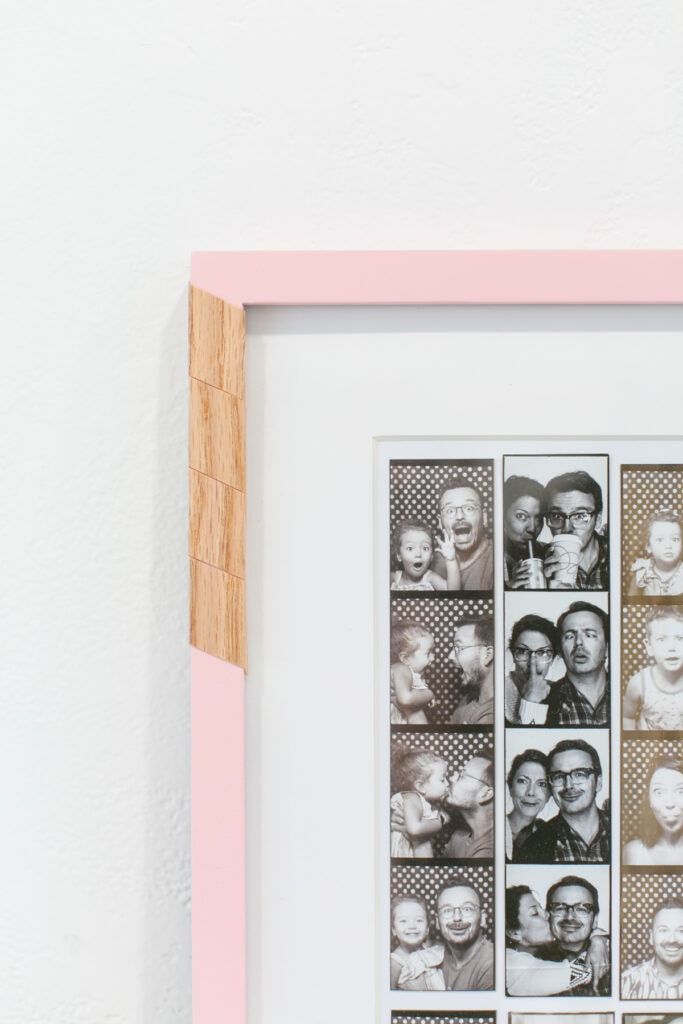 DIY wood veneer picture frame