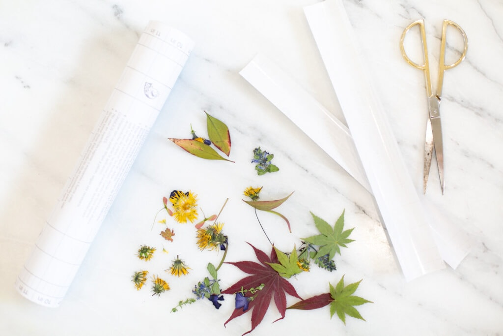 pressed flowers for bookmarks