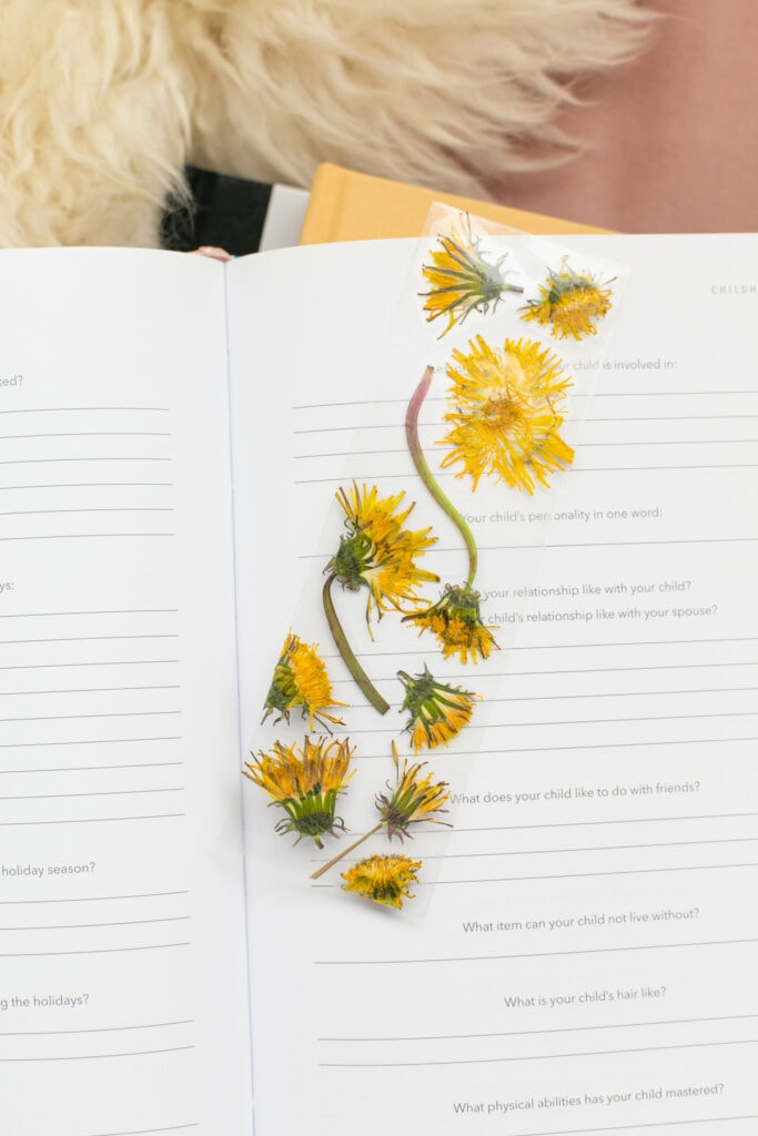 How to make markers with pressed flowers