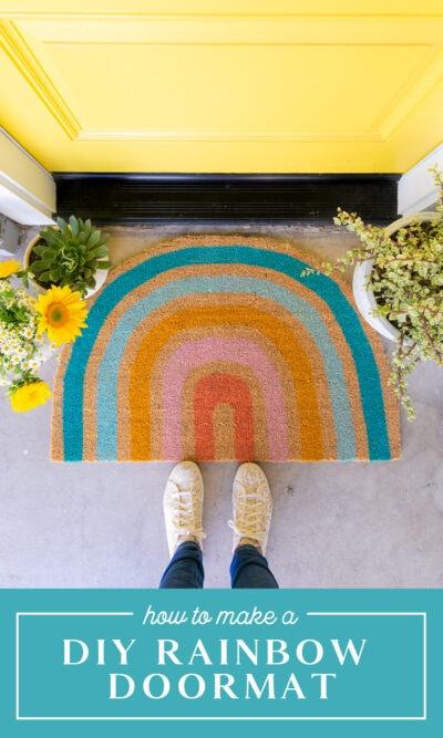 DIY Rainbow Doormat