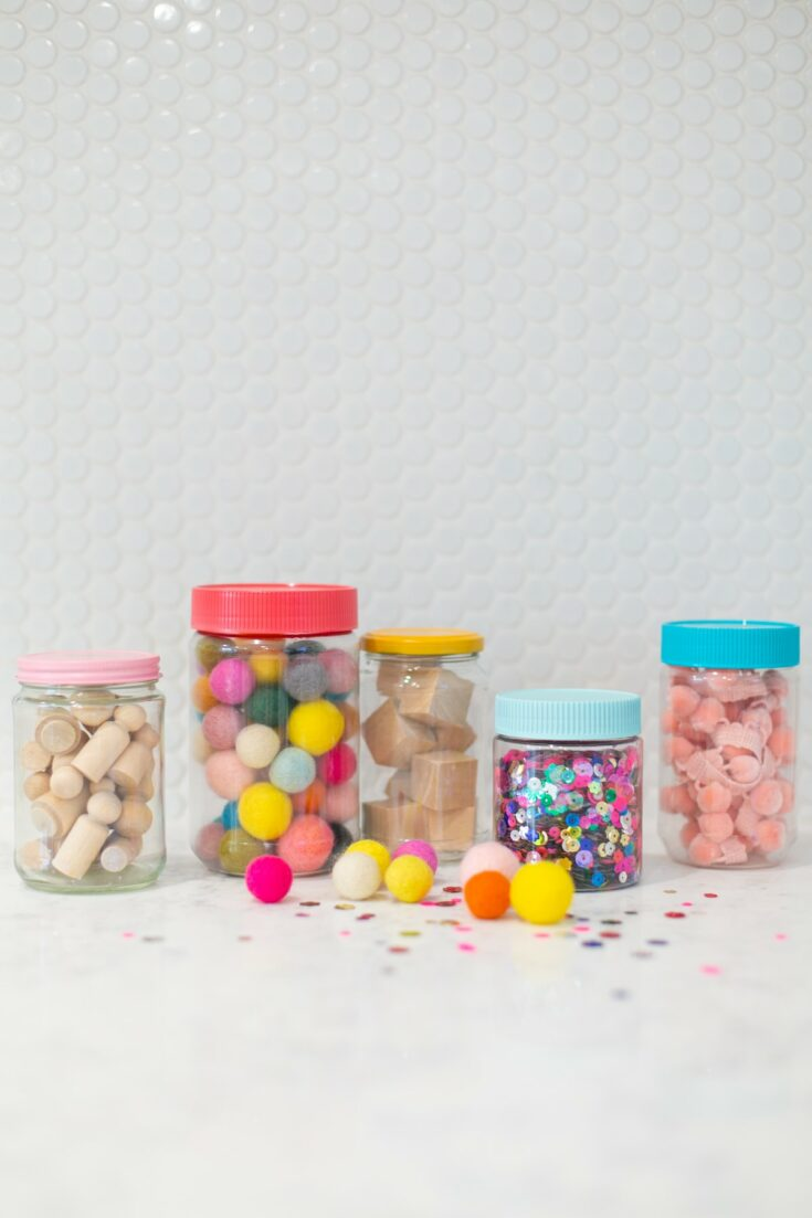 empty peanut butter jar ideas