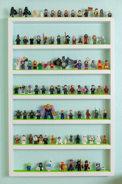 LEGO display shelves