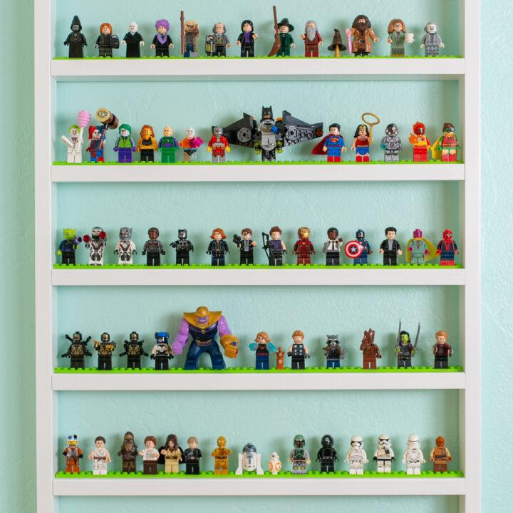 LEGO display shelves
