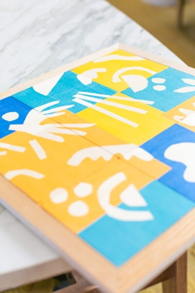 diy painted puzzle for kids