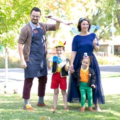 family Pinocchio costume
