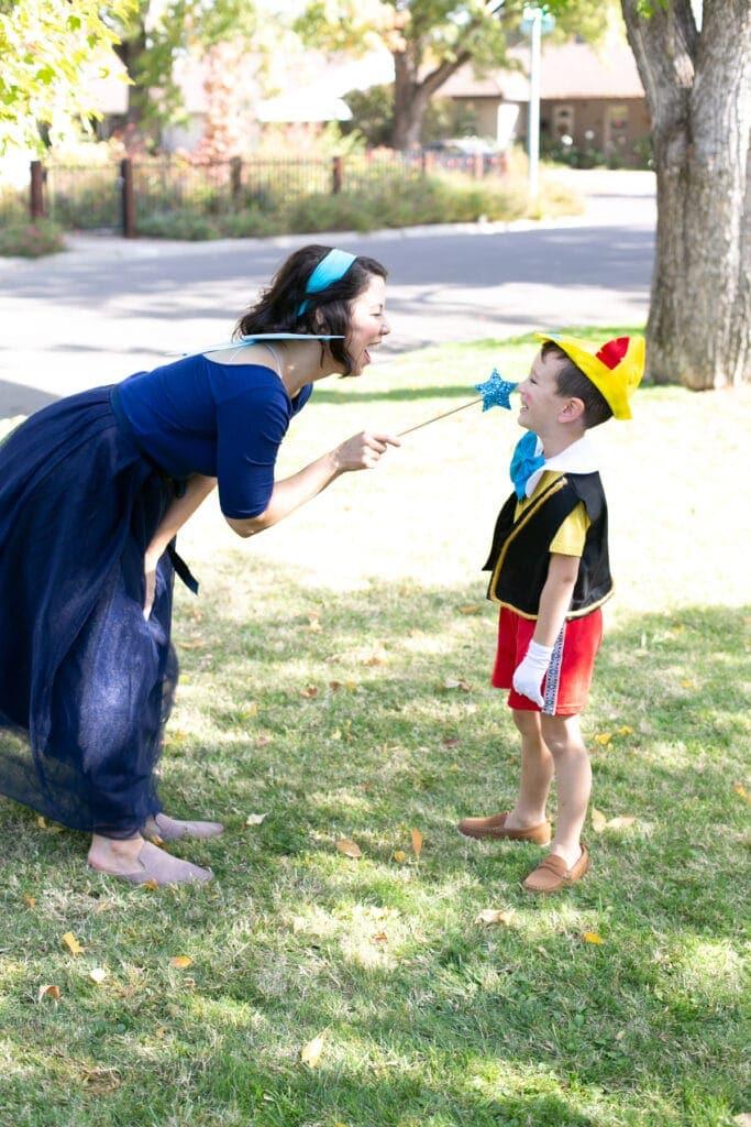 blue fairy and pinocchio costume