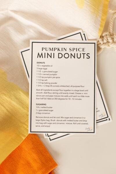 mini donut recipe