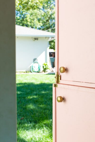 pink playhouse door
