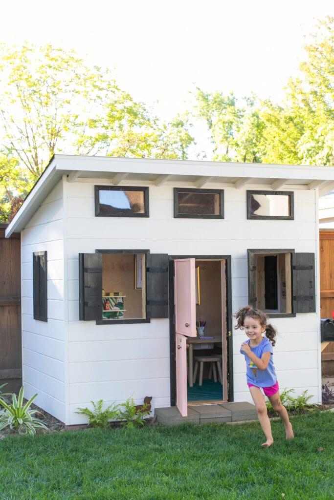modern wooden playhouse