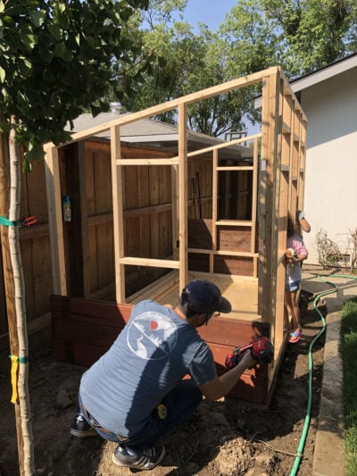 how to build a wooden playhouse