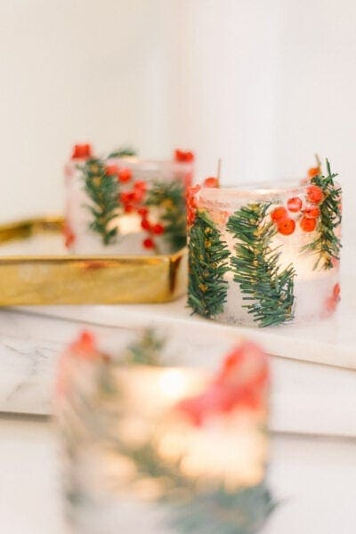 diy ice ring lanterns