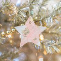 salt dough ornament on a christmas tree