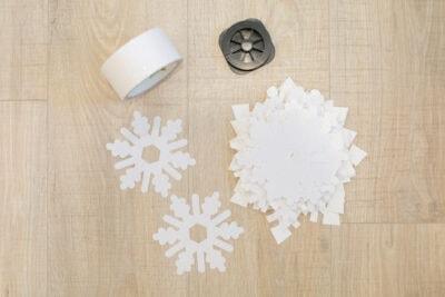 materials to hang paper snowflakes