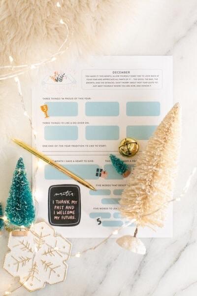december intention blueprint