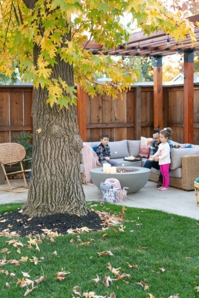 outdoor entertaining during winter