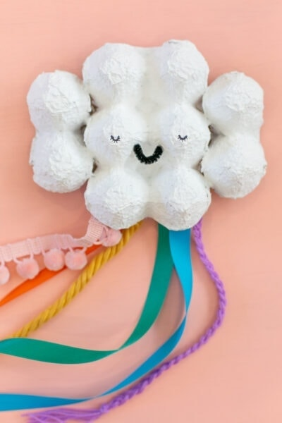 egg carton rainbow craft for kids