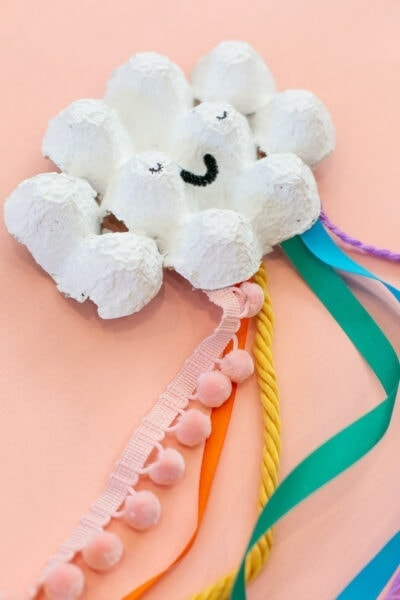 egg carton rainbow craft for kids
