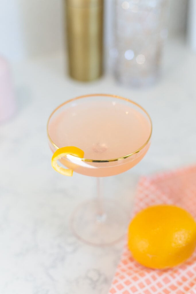 gin and prosecco cocktail