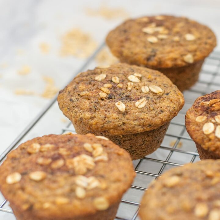 Healthy Pecan Banana Protein Muffins