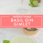 how to make a basil gimlet cocktail