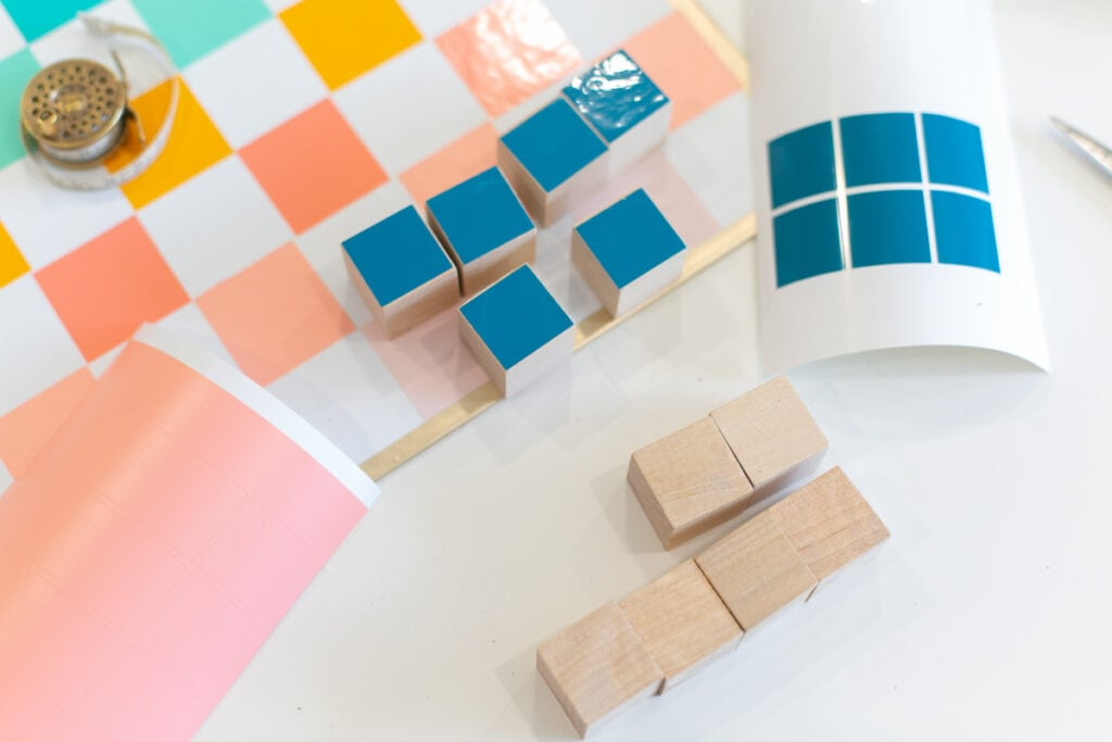 colorful checker board