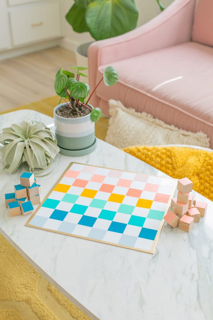 colorful checkers set