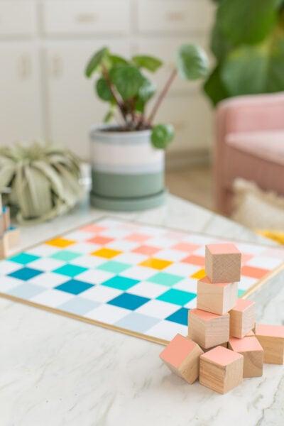 DIY checkers and chess set
