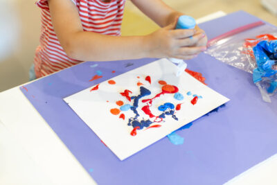 paint squeezed on a paper
