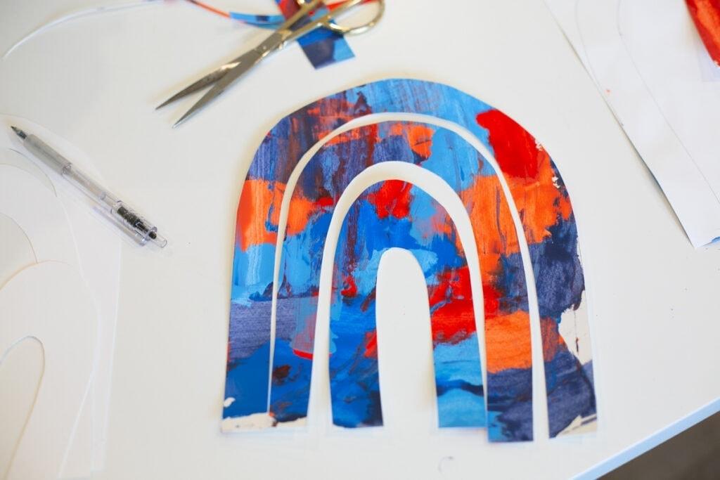 how to make a kids' rainbow craft