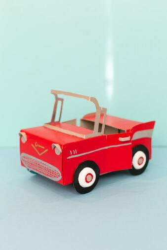 how to make a cardboard toy car