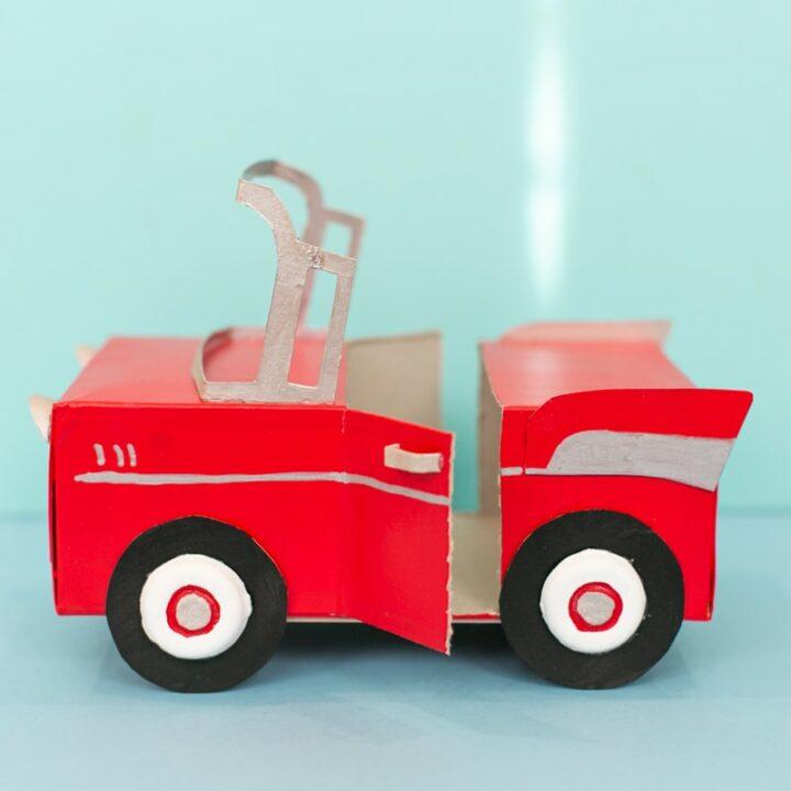cardboard toy car