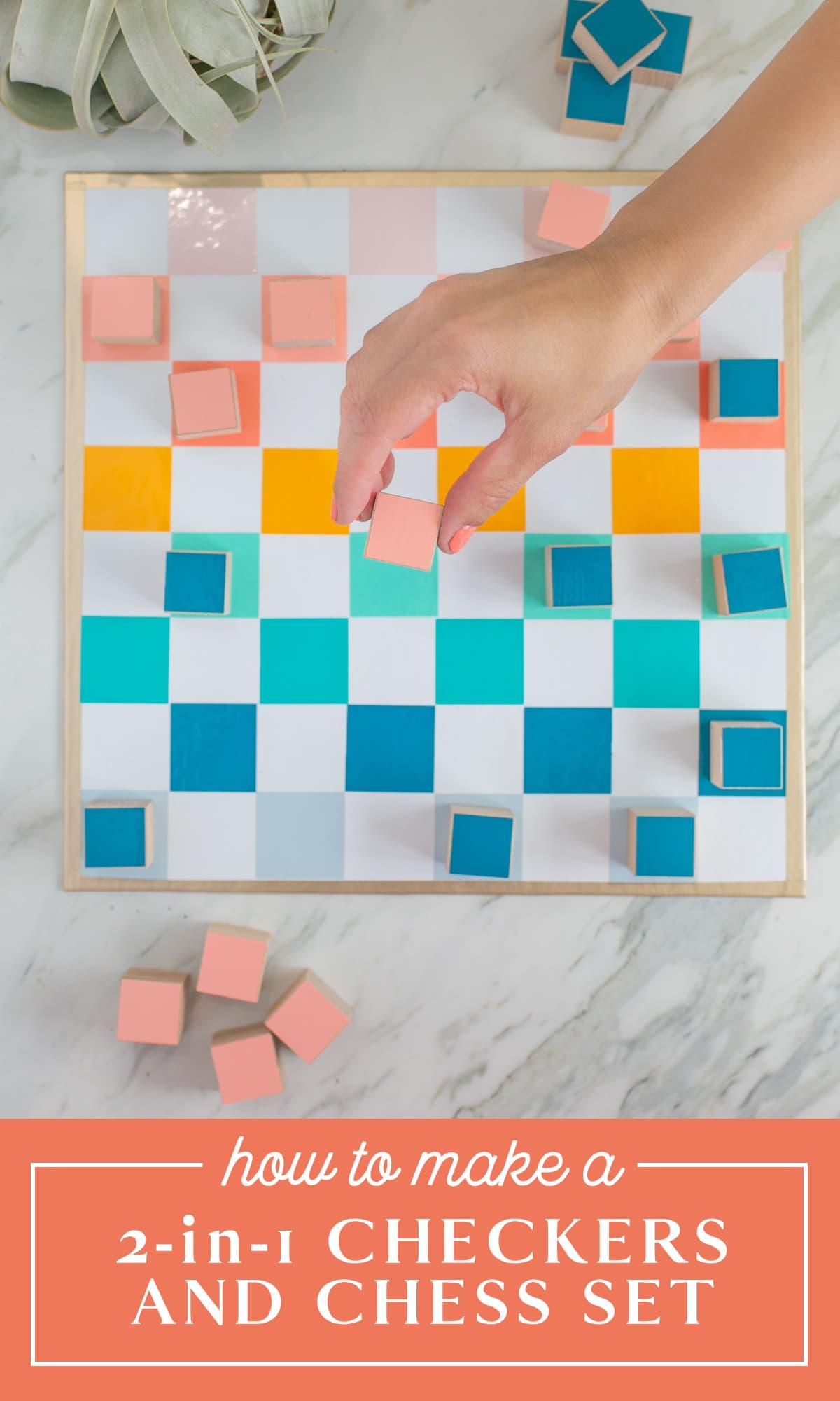 dáma és sakk készlet DIY