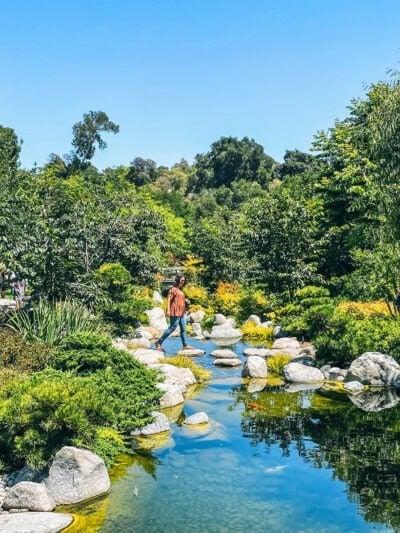 woman in japanese friendship garden in balboa park in san diego