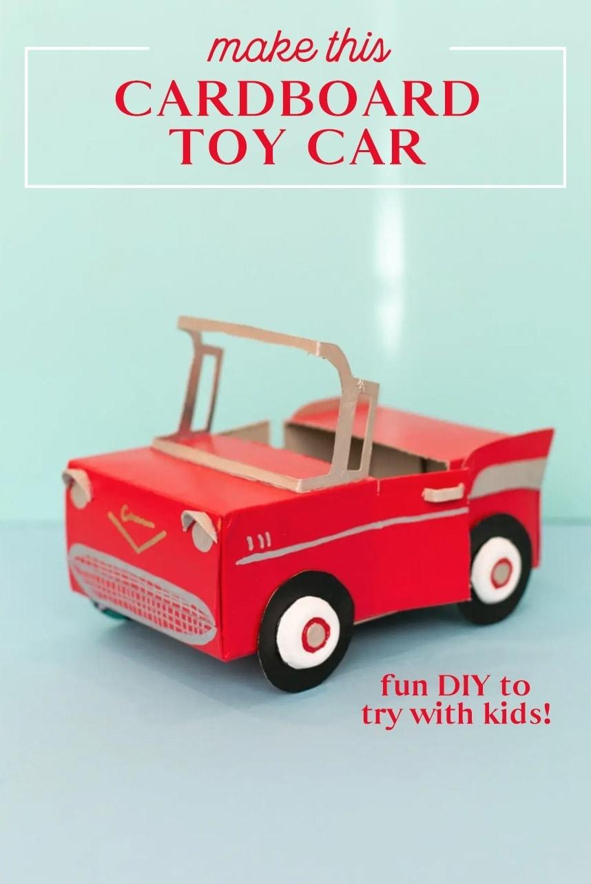 hogyan készítsünk karton játékautót