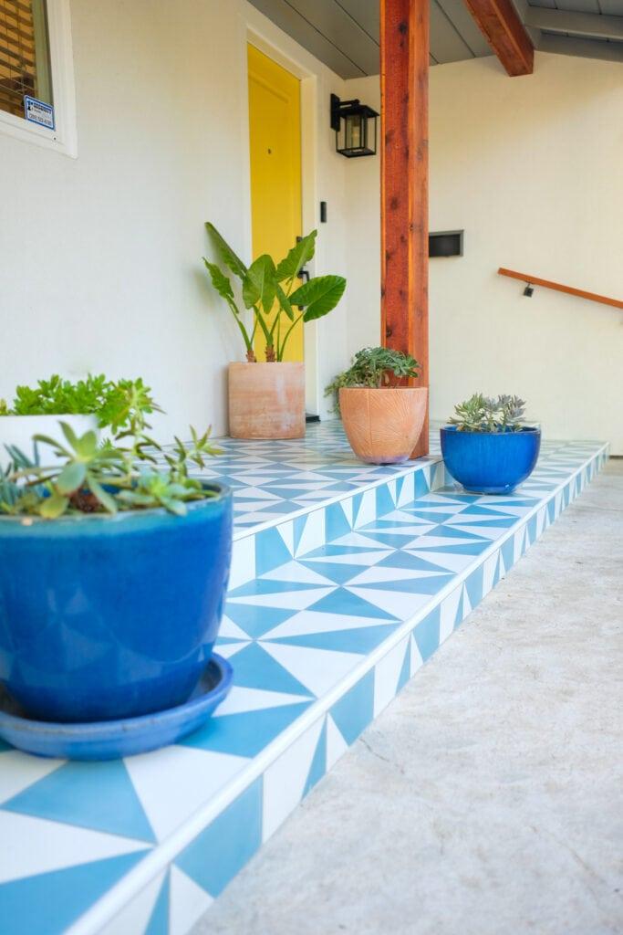 front tile patio