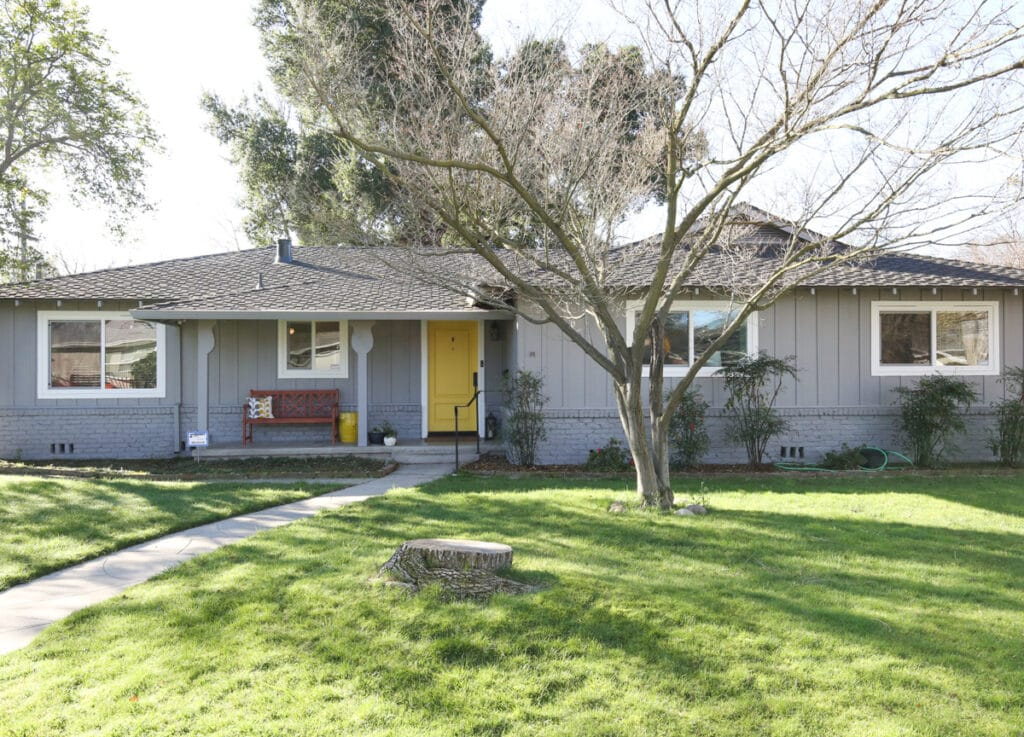 ranch style gray house