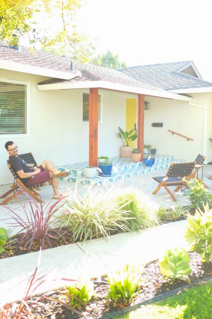 modern tile front porch