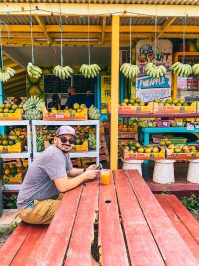 waimea town fruit stand in kauai