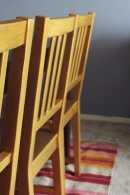 DIY Gold Painted Chairs